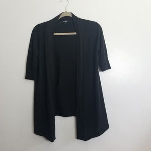 Express short sleeve shimmer open front cardigan